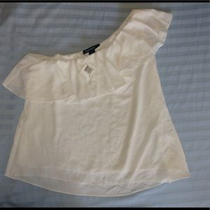 NEW!!French connection one shoulder white, MED